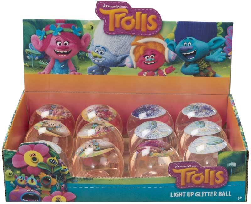 Trolls Light Up Glitter Ball Wholesale