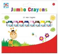 Wholesalers of 10 Jumbo Wax Crayons toys image