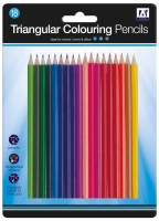 Wholesalers of 18 Triangle Colouring Pencils toys image