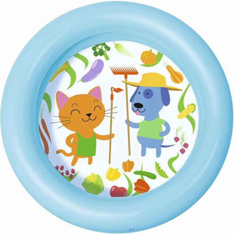 Wholesalers of 24 Inch X 6 Inch Round 2 Ring Kiddie Pool toys