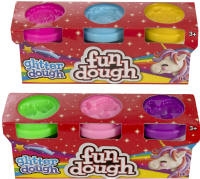 Wholesalers of 3 Pack Glitter Dough toys image