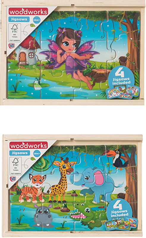 Wholesalers of 4 Wooden Puzzles In Box toys