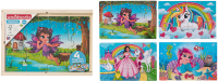 Wholesalers of 4 Wooden Puzzles In Box toys image 2