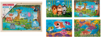 Wholesalers of 4 Wooden Puzzles In Box toys image 3