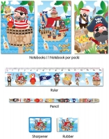 Wholesalers of 5 Pc Pirate Stationery Set toys image