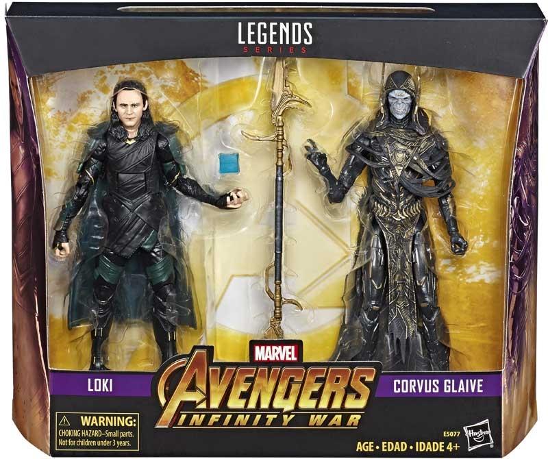 Wholesalers of Avengers 6in Legends Loki Vs Corvus Glaive toys