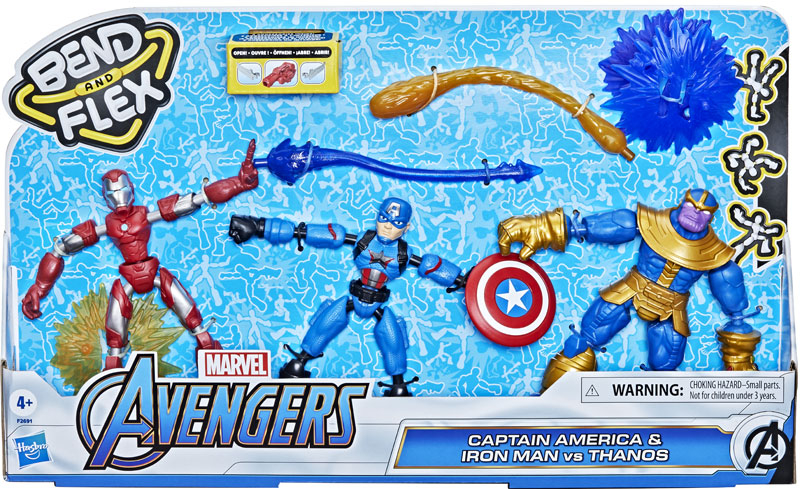 Wholesalers of Avengers Bend And Flex Cap And Im Vs Thanos toys