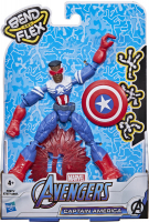 Wholesalers of Avengers Bend And Flex Captain America Falcon toys image