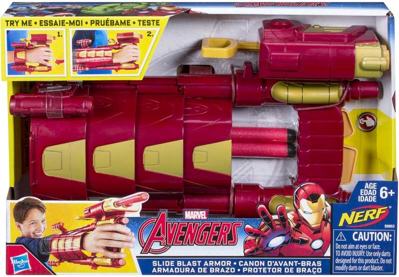Wholesalers of Avengers Iron Man Slide Blast Armor toys