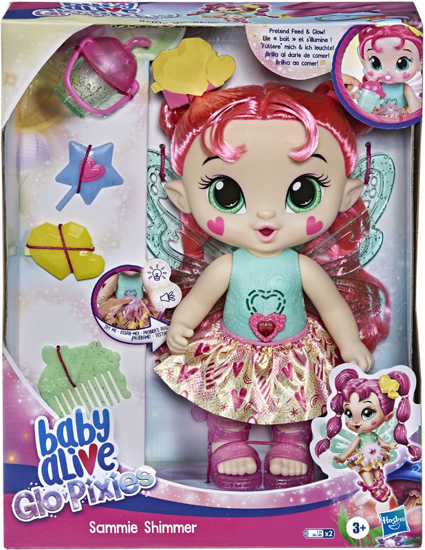 Wholesalers of Baby Alive Glo Pixies Sammie Shimmer toys