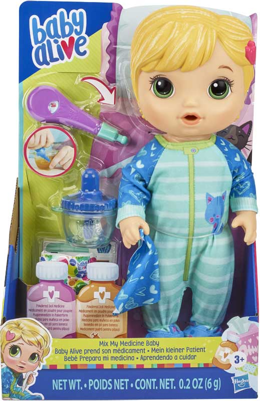 Wholesalers of Baby Alive Mix My Medicine Baby Blonde toys