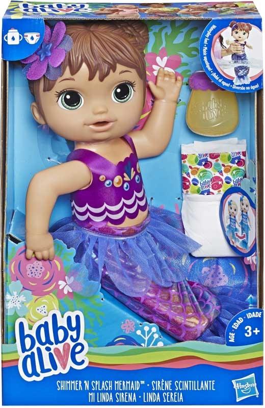 Wholesalers of Baby Alive Shimmer N Splash Mermaid Brn Hair toys