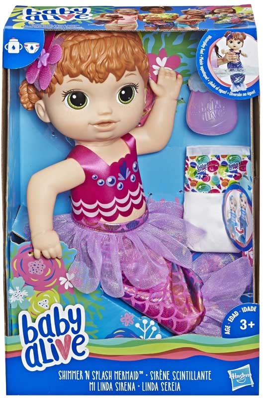 Wholesalers of Baby Alive Shimmer N Splash Mermaid Red Hair toys