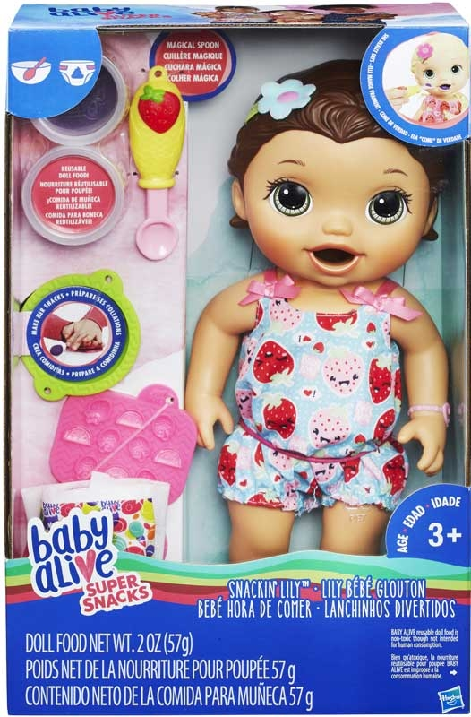 Wholesalers of Baby Alive Snackin Lily Brunette toys