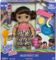 Wholesalers of Baby Alive Snackin Noodles Baby Brunette toys Tmb