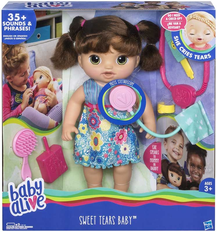 Wholesalers of Baby Alive Sweet Tears Baby Brunette toys