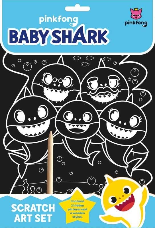 Wholesalers of Baby Shark Scratch Art Set toys