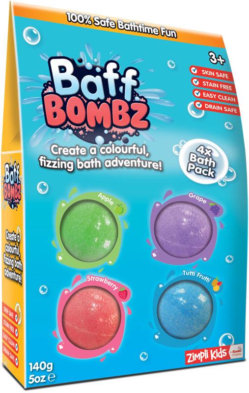 Wholesalers of Baff Bombz 4 Pack - 140g toys