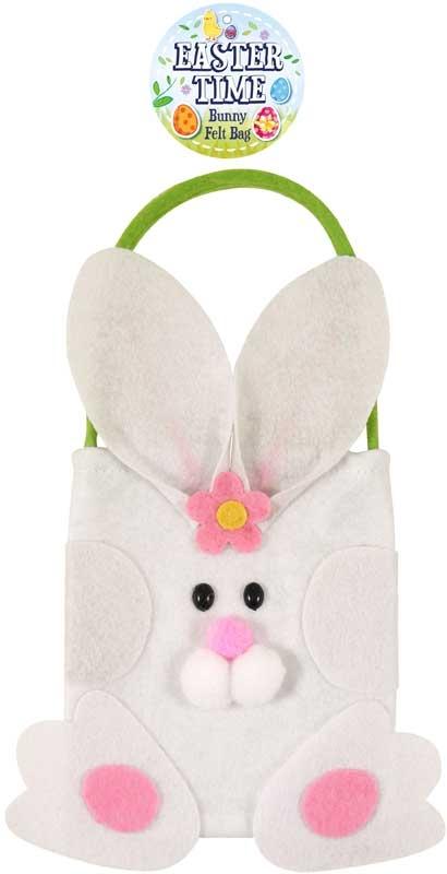 Wholesalers of Bag Felt Easter Bunny 17 X 23cm toys