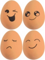 Wholesalers of Ball Jet 5.4cm Egg Shape Brown With Face toys Tmb