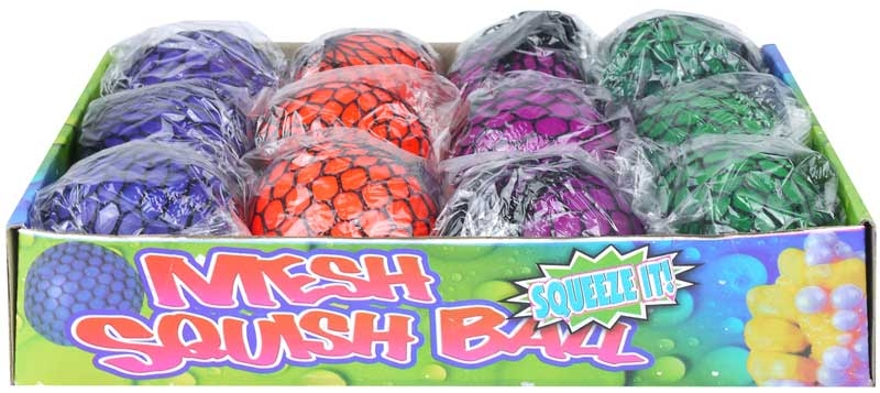 Wholesalers of Ball Mesh Squeeze 7.5cm 4 Asst Cols toys