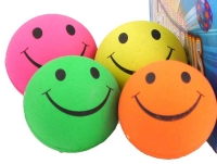 Wholesalers of Ball Smile Face 6.2cm Neon Cols toys image