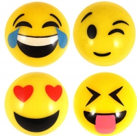 Wholesalers of Ball Smile Face With Light 5cm 12 Asst toys image 2