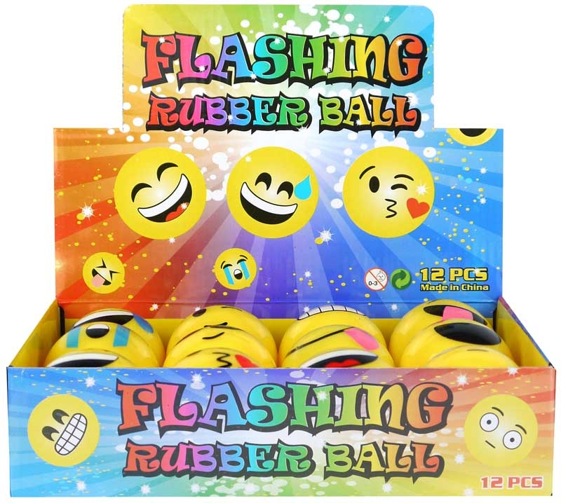 Wholesalers of Ball Smile Face With Light 5cm 12 Asst toys