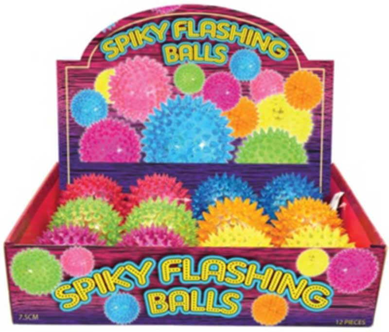 Wholesalers of Ball Spikey With Light 7.5cm 6 Ast Cols toys