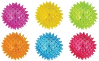 Wholesalers of Ball Spikey With Light 7.5cm 6 Ast Cols toys image 2
