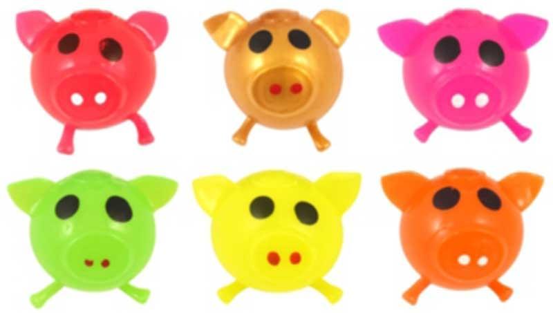 Wholesalers of Ball Splat Sticky Pig 7cm 6 Asst Cols toys