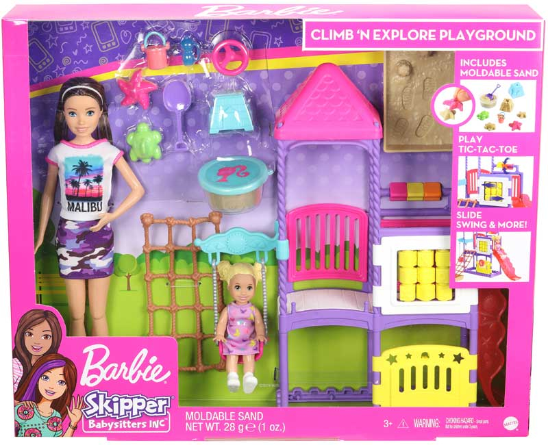 Wholesalers of Barbie Babystitter Playground toys