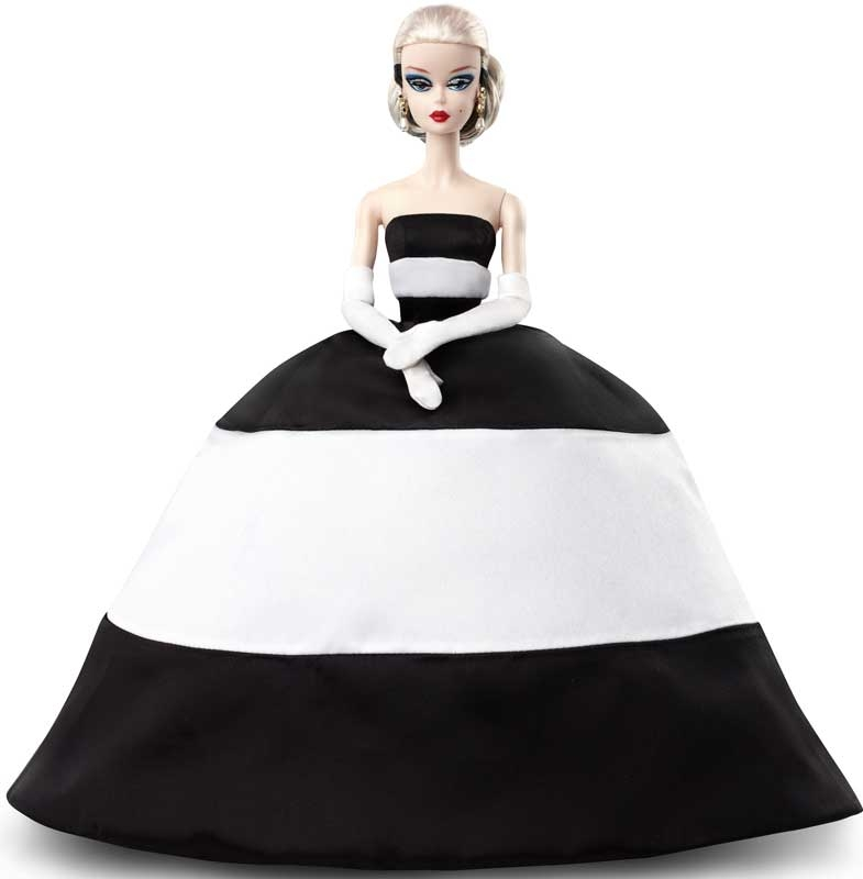 Wholesalers of Barbie Bfmc Doll 2 Black And White Satin Gold Label toys