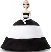 Wholesalers of Barbie Bfmc Doll 2 Black And White Satin Gold Label toys image