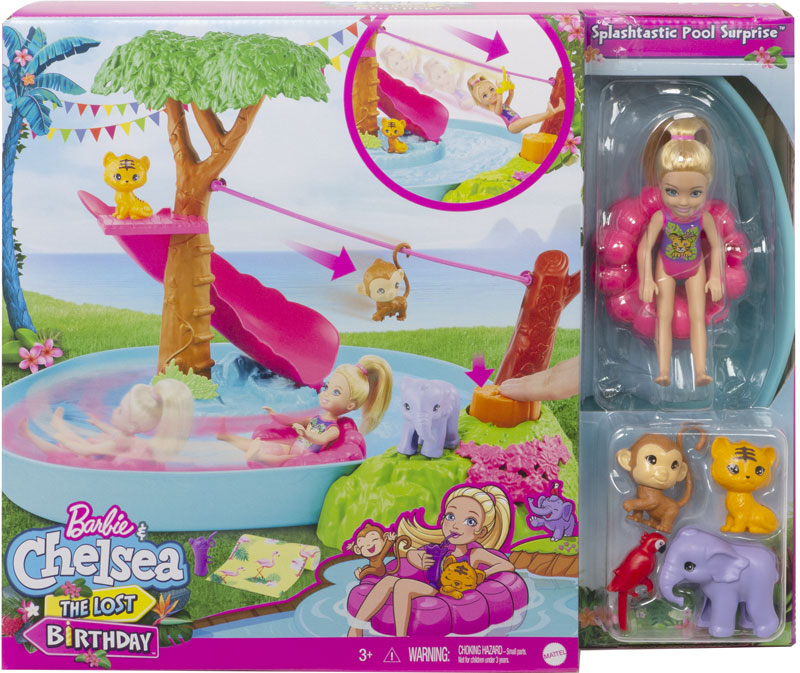 Wholesalers of Barbie Birthday Surprise Chelsea Jungle River Play Set toys