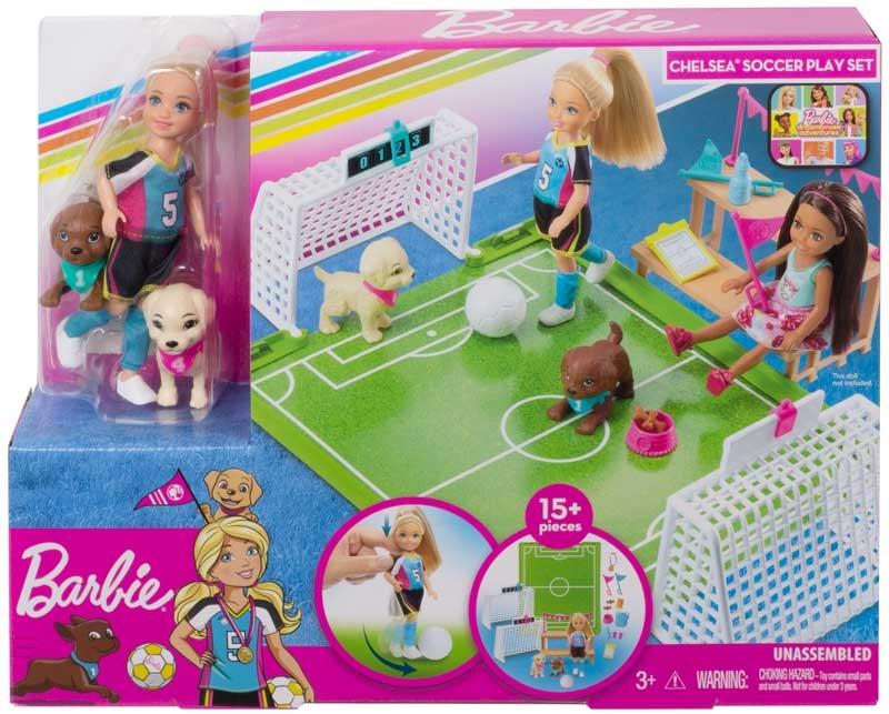 Wholesalers of Barbie Chelsea Football Playset toys