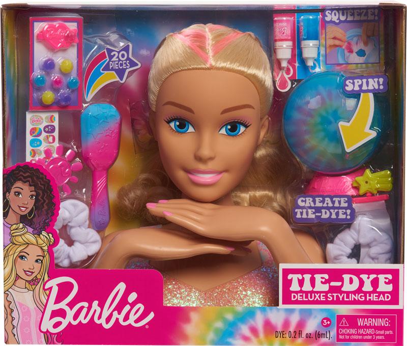 Wholesalers of Barbie Deluxe Blonde Tie Dye Styling Head toys