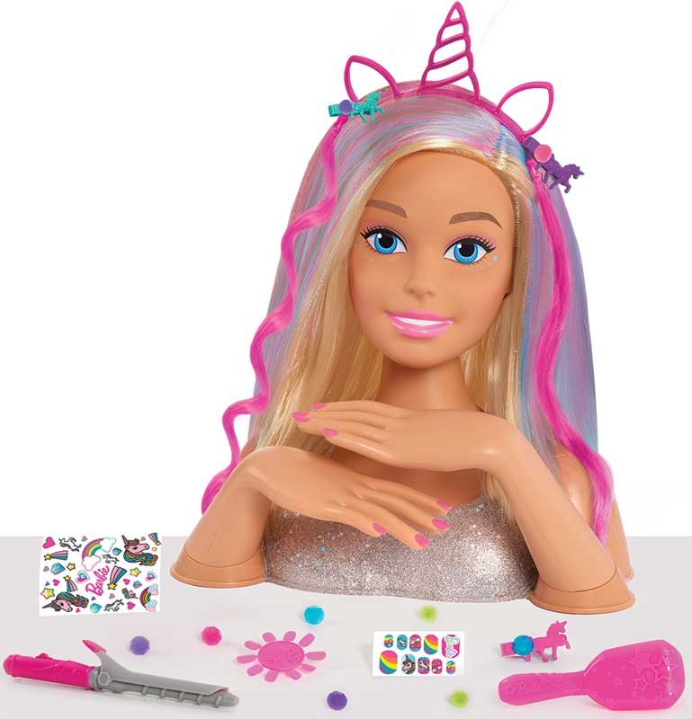 Wholesalers of Barbie Deluxe Styling Head Glitter - Blonde toys