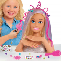 Wholesalers of Barbie Deluxe Styling Head Glitter - Blonde toys image 3