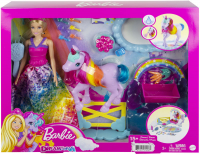 Wholesalers of Barbie Dreamtopia Doll And Unicorn toys image