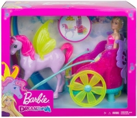 Wholesalers of Barbie Dreamtopia Princess - Pegasus & Chariot toys image