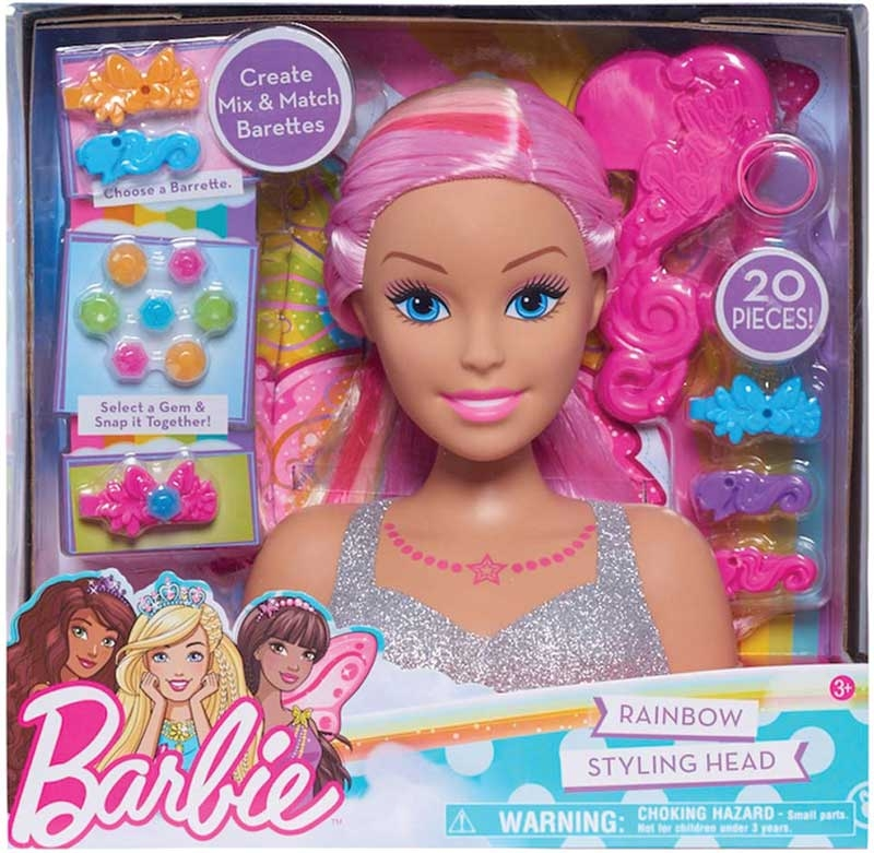 Wholesalers of Barbie Dreamtopia Rainbow Styling Head toys