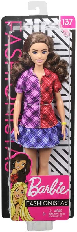 Wholesalers of Barbie Fashionistas Doll 137 Checkered Dress toys