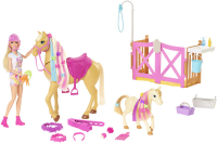 Wholesalers of Barbie Groom N Care Doll | Horses And Playset toys image 2