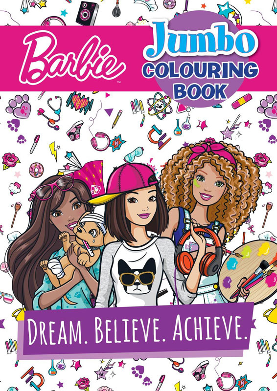 Wholesalers of Barbie Jumbo Colouring Book toys