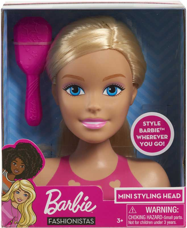 Wholesalers of Barbie Mini Blonde Styling Head toys