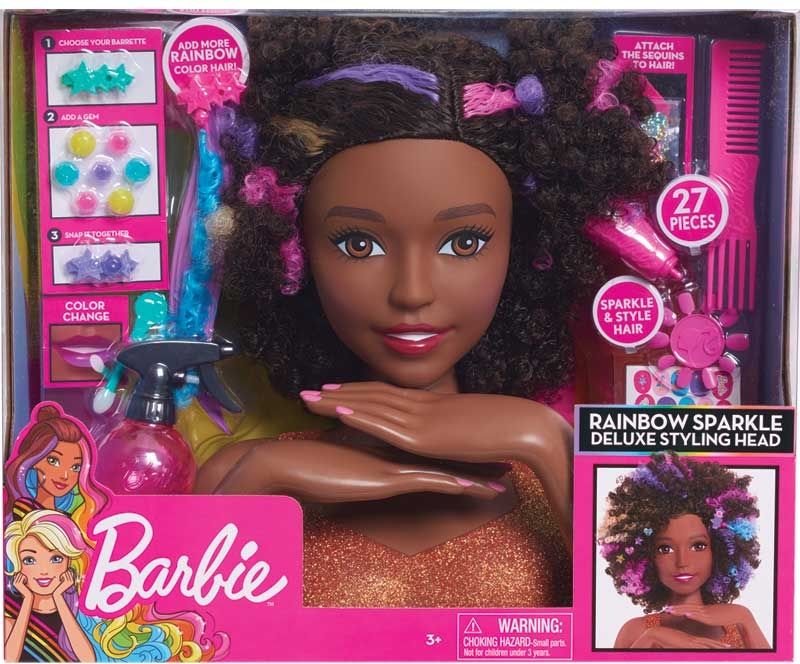 Barbie Sparkle Deluxe Styling Head Afro Hair Wholesale