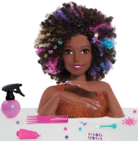 Wholesalers of Barbie Sparkle Deluxe Styling Head - Afro Hair toys image 2