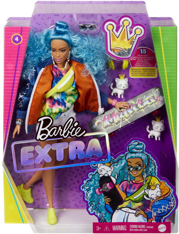 Wholesalers of Barbie Extra Blue Afro Hair Doll toys