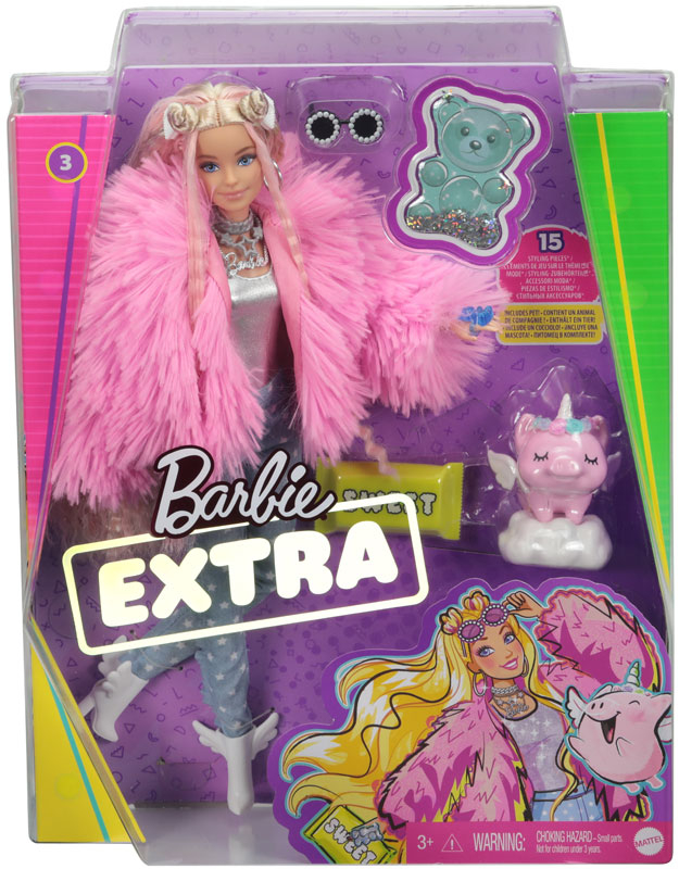 Wholesalers of Barbie Extra Fluffy Pink Jacket Doll toys
